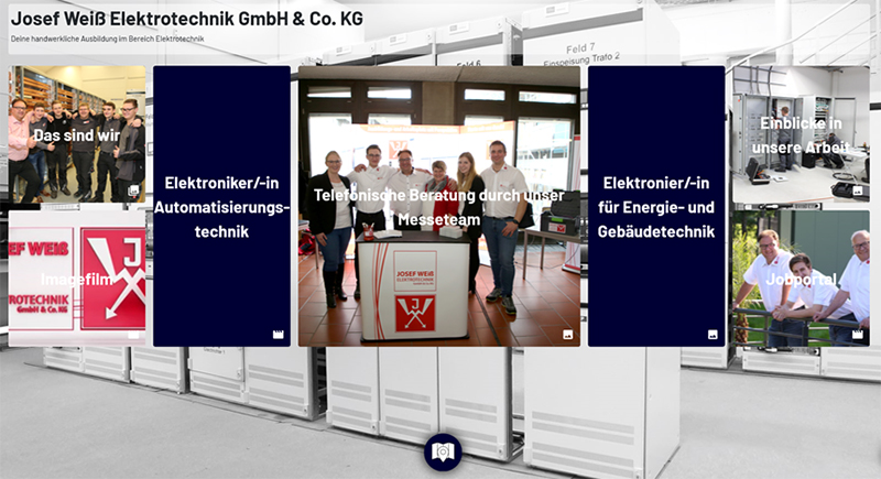 Virtueller Messestand bei der Jobmesse 2020 in Deggendorf
