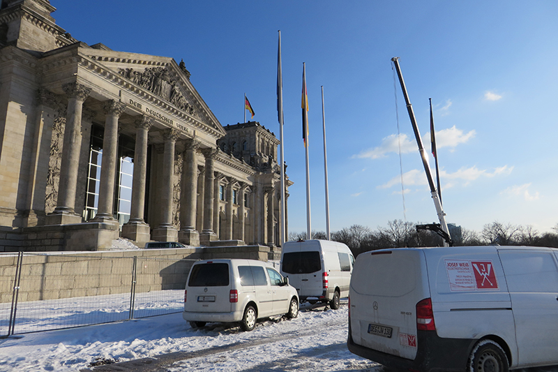Josef Weiß Elektrotechnik am Berliner Reichstag
